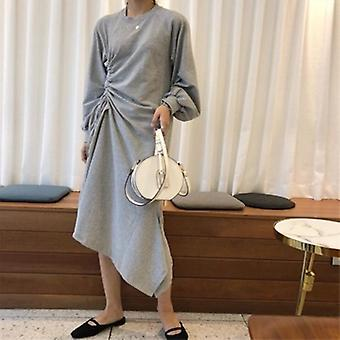 Mid-calf Length  Long Sleeve Dress