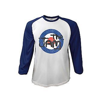 The Jam T Shirt Target Logo Distressed Official Mens White 3/4 Sleeve Baseball