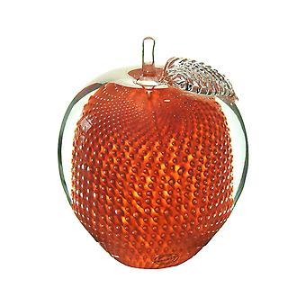 Bergdalshyttan-Art Glass-apple medium red Design Magnus Carlsson