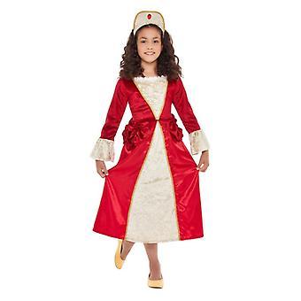 Dievčatá červené & zlato Tudor princezná maškarný kostým