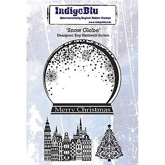 Snow Globe A6 Red Rubber Stamp par Kay Halliwell-Sutton