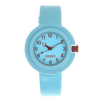 Crayo Equinox Unisex Watch - Cerulean/rood