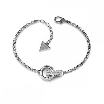 Guess Jewellery Guess Small Silver Chain Bracelet With Embracing Rings UBB78088-L