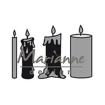 Marianne Design Craftables Candles Set Die, Metal, Grey, 14.2 x 11.3 x 0.2 cm