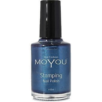 MoYou Stamping Nail Art Metallic Collection - Special Nail Polish - Celestial Blue 12ml