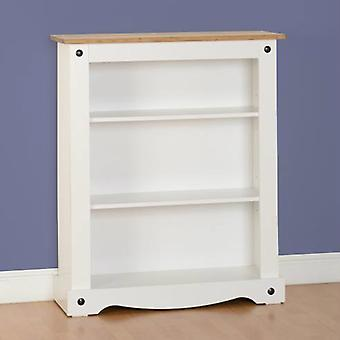 Corona Low Bookcase Painted White