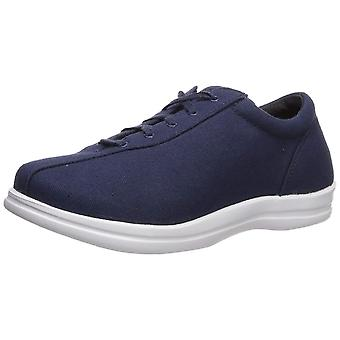 Apex Women's Women's Ellen - Canvas - Navy Shoe, Navy, 5.5 XW US