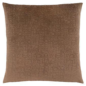 "18"" x 18"" Light Brown, Mosaic Velvet - Pillow"