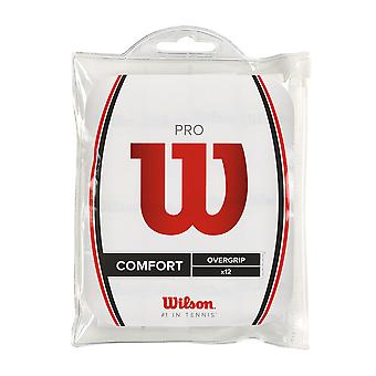 Wilson Pro Overgrip 12 Pack impermeable tenis grips WRZ4016 - Blanco - 12 Pack