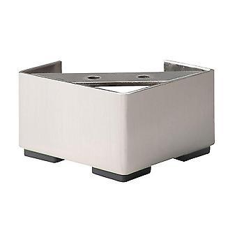 Stainless steel Square Furniture Leg 6.5 cm