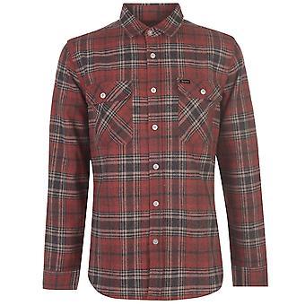 Brixton Mens Overshirt Long Sleeve Top Button Up Collar Plaided Shirt