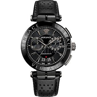 Versace - Watch - Men - Quartz - Chronograph - Date - Leather Strap - Aion VE1D00519