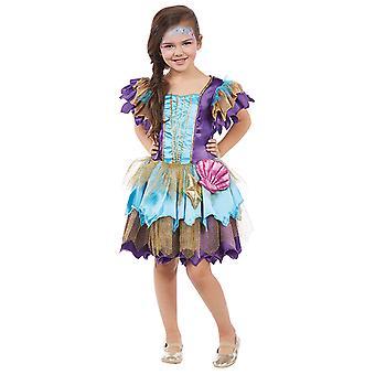 Meerjungfrau Alana Kinder Kostüm Mädchen Nymphe Mermaid