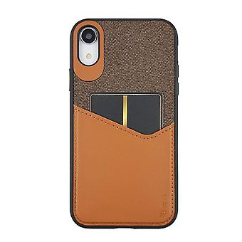 Brown iPhone XR Case With Card Holder