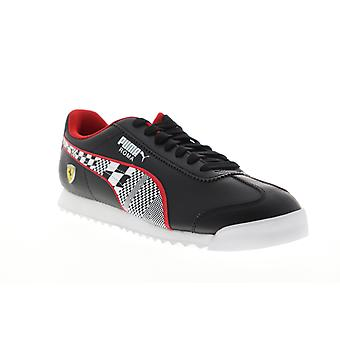 Puma Scuderia Ferrari Roma  Mens Black Synthetic Low Top Sneakers Shoes