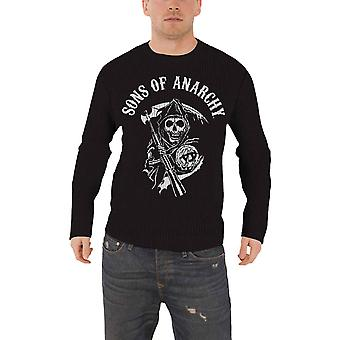 Sons Of Anarchy Jumper Sweater Reaper Skull logo new Official Mens Black