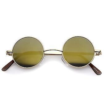 لينون نمط الدائرة المستديرة نظارات معدنية مع لون العدسة مرآة