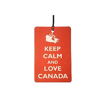 Keep Calm And Love Canada Car Air Freshener