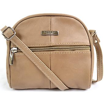 Mesdames / petit Womens cuir maniable Cross Body / Shoulder Bag - Tan