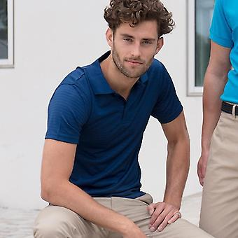 Henbury cooltouch® textured stripe polo hb473