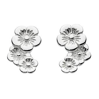Dew Sterling Silver Scatter Flower Stud Earrings 40810HP