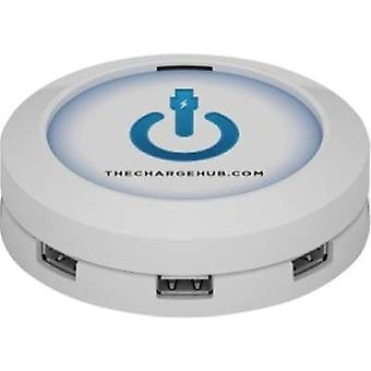 7 Port Chargehub USB Charging Station Super Value Pack Round - White