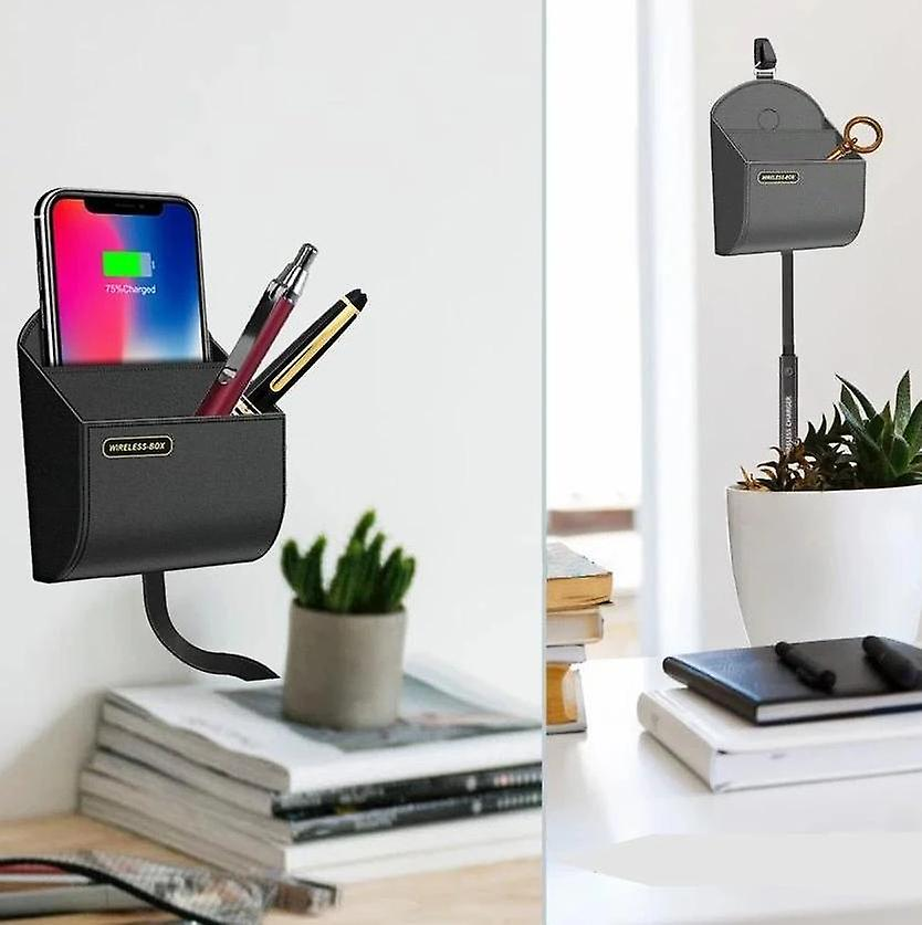 Qi wireless charger with storage box