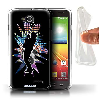 STUFF4 Gel TPU Fall/Cover für LG L90/D405/Hendrix Schwarz/Rock Star Pose