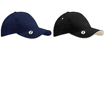 Beechfield Pro-Style Ball Mark Golf Baseball Cap / Headwear (Pack of 2)