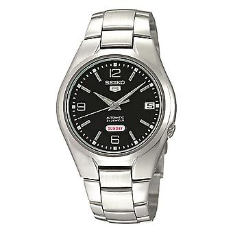 Seiko 5 Automatic Black Dial Silver Stainless Steel Men's Watch SNK623K1