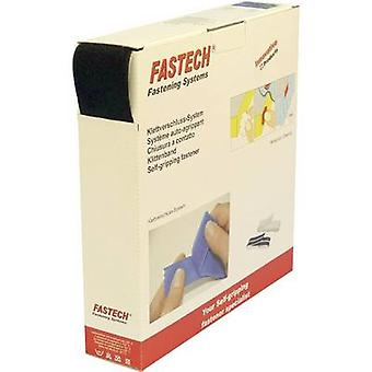 FASTECH® B50-SK-L-999925 Krok-och-slinga tejp stick-on (smältlim) Krokdyna (L x W) 25000 mm x 50 mm Svart 25 m