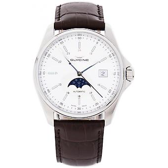 Combat classic moonphase Automatic Analog Men's Watch with Cowskin Bracelet GL0115