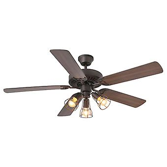 """Ventilateur de plafond Aloha 132cm / 52"""" avec lumière et télécommande"""