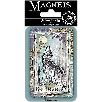 Stamperia Wolf 8x5.5cm magneetti
