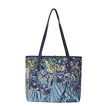 Van Gogh-Iris olka laukku, jonka signare Tapestry/Coll-Art-VG-Iris