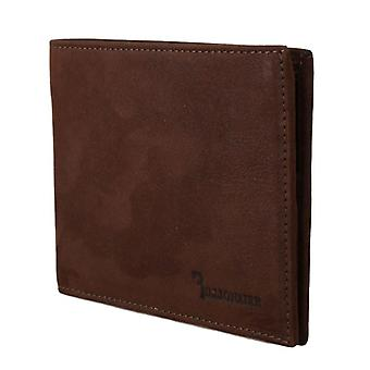 Brown leather bifold wallet a63
