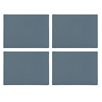 English Tableware Co. Bonded Leather Placemats, Blue