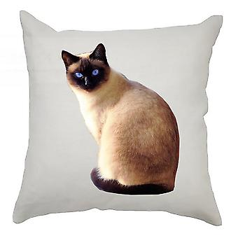 Animal Cushion Cover 40cm x 40cm Blue Eyed Siamese
