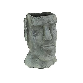 Duża Wyspa Wielkanocna Ahu Akivi Moai Betonowa Plantator Doniczka 10,75 Cala
