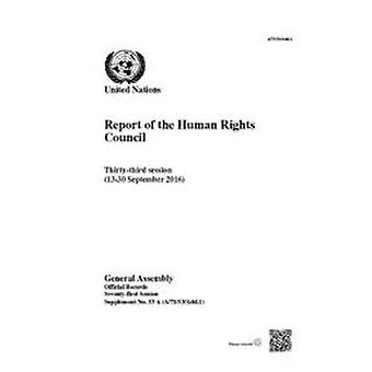 Report of the Human Rights Council - thirty-third session (13-30 Septe