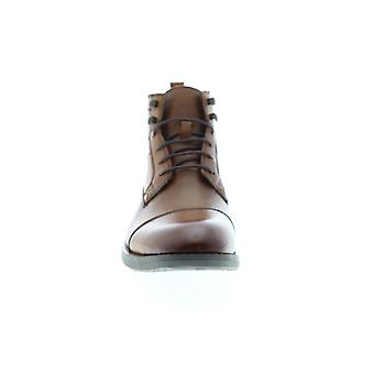 English Laundry Ensor  Mens Brown Leather Casual Dress Boots Shoes
