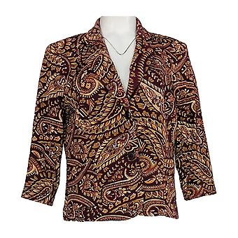 Joan Rivers Women's Suit Jacket/Blazer Pretty in Paisley Jersey Red A295619