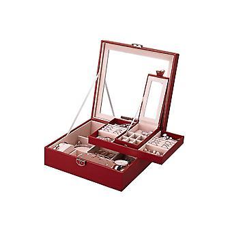 31MADISON Bordeuxe caja de joyería acolchada roja