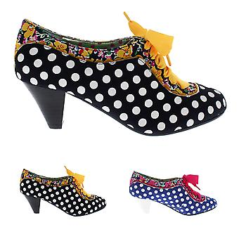 Womens Poetic Licence Whiplash Mary Jane Leather Lace Heels Court Shoe