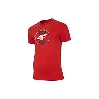 T-shirt universel 4F TSM022 H4L20TSM022CZERWONY universel toute l'année pour hommes