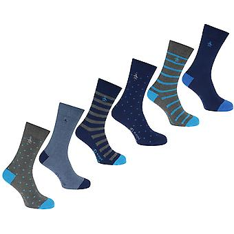 Penguin 6 Pack Calcetines Para Hombres