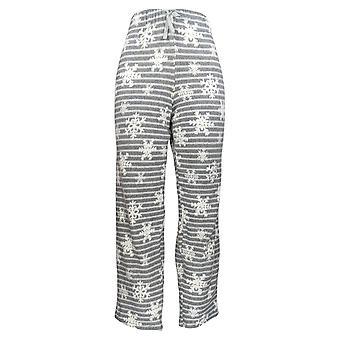 Cuddl Duds Women's Pajama Pants Fleecewear Printed Grey A371296