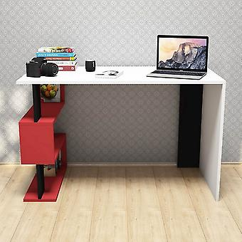 Snap Color Desk Vit, Röd, Svart i Melaminic Chip, PVC 120x60x75cm