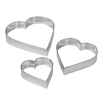 Tala Plain Heart Cutters (Pack of 3)
