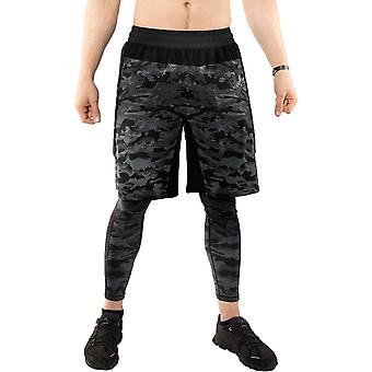 Venum Defender Dark Camo Training Shorts Zwart/Grijs